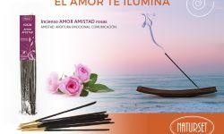 EL AMOR TE ILUMINA-Incienso AMOR rosas
