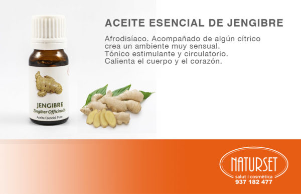Aceite Esencial de Jengibre de NATURSET
