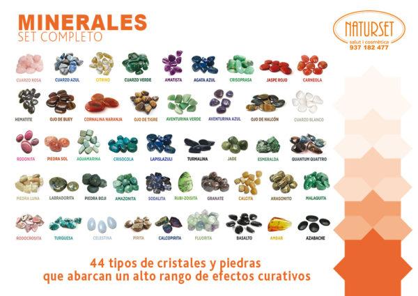 Set completo de minerales en Naturset