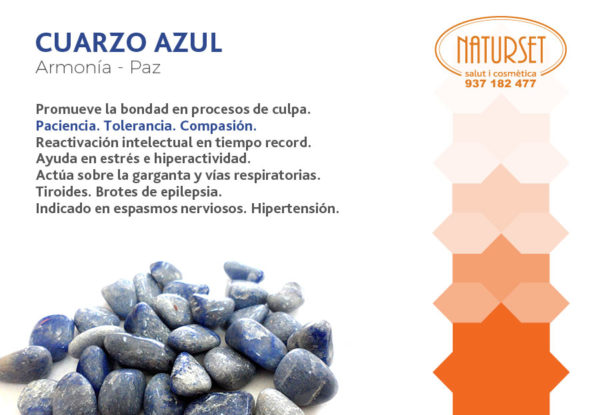 Cuarzo Azul - Minerales de Naturset