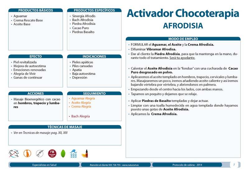 Tratamiento Activador Chocoterapia Afrodisia de NATURSET