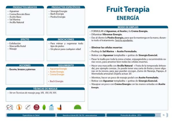 Fruit Terapia Energía - Tratamiento Libro Azul de Naturset