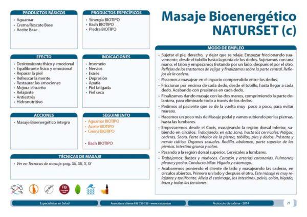 Masaje Bioenergético NATURSET (c) Tratamientos Naturales Libro Azul