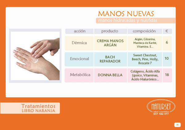 Manos Nuevas: Tratamientos Libro Naranja de NATURSET