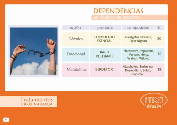 Dependencias - Tratamiento Libro Naranja de NATURSET