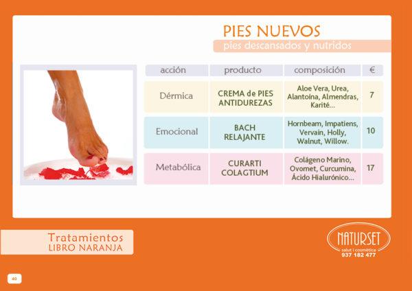 Pies Nuevos - Libro Naranja - Tratamientos de NATURSET