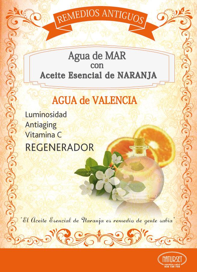 Remedios Antiguos: Agua de Valencia. Agua de Mar con Aceite Esencial de Naranja