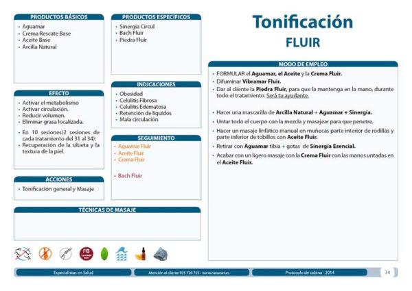Tonificación FLUIR - Tratamiento Corporal - Libro AZUL de Naturset
