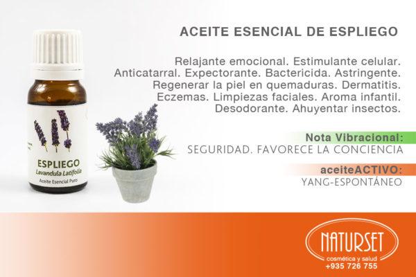 Aceite Esencial ESPLIEGO - Aceites Esenciales PUROS de Naturset