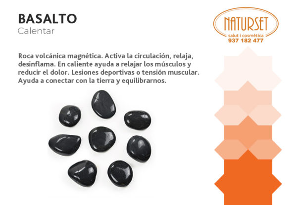 Basalto: Calentar. Cristales y Piedras de Naturset.