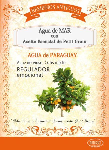 AGUA DE PARAGUAY: Agua de Mar con Aceite esencial de Petit Grain. Remedios Antiguos de NATURSET.