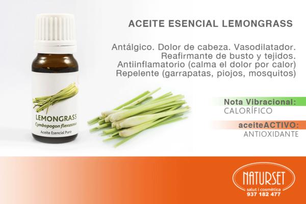 Aceite Esencial Lemongrass - #AceitesEsencialesPuros de #Naturset