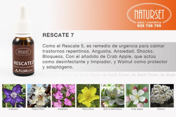 Remedio Rescate 7 - Bach Fórmulas de NATURSET