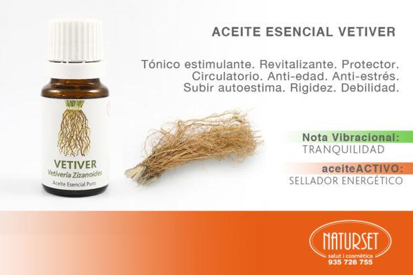 Aceite Esencial VETIVER. #AceitesEsencialesPUROS de #Naturset