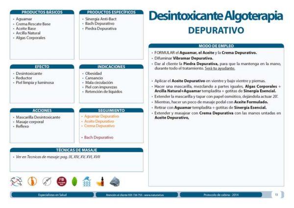 Tratamiento Desintoxicante Algoterapia DEPURATIVO - Libro Azul de Naturset