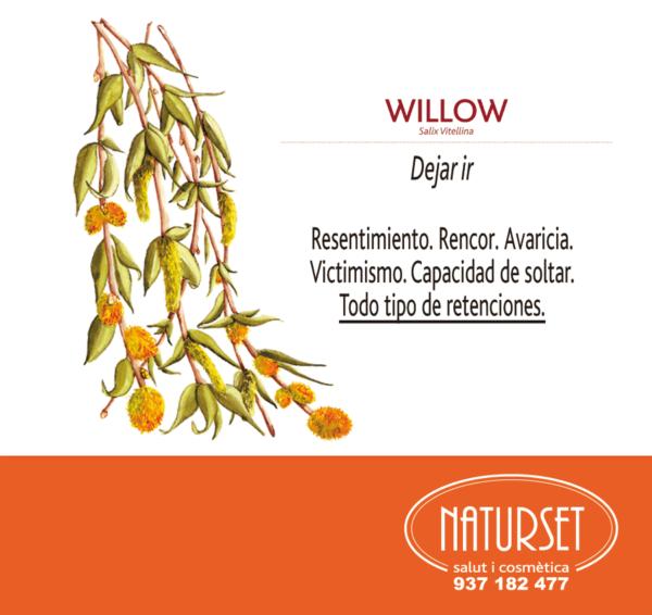 Willow: Dejar ir. Flores de Bach de Naturset