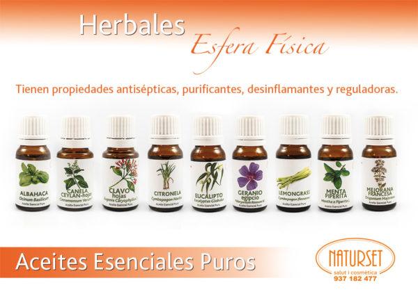 Herbales - Esfera Física - Aceites Esenciales Puros de NATURSET