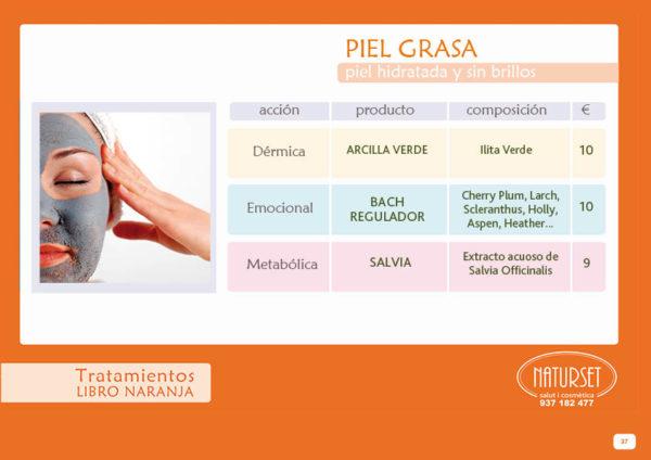 Piel Grasa - Tratamiento - Libro Naranja de NATURSET