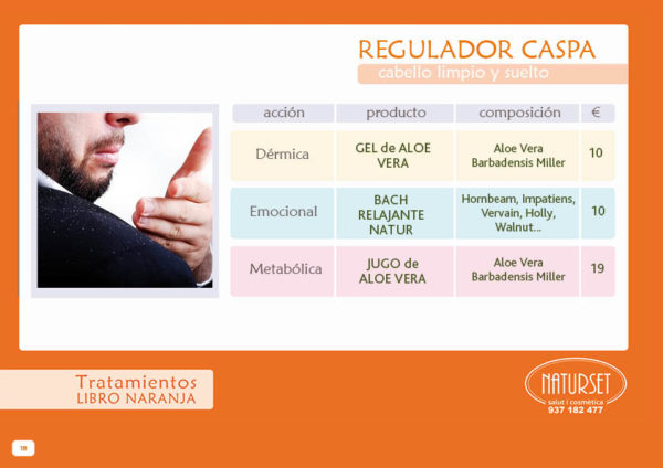 Regulador Caspa - Tratamiento - Libro Naranja de NATURSET