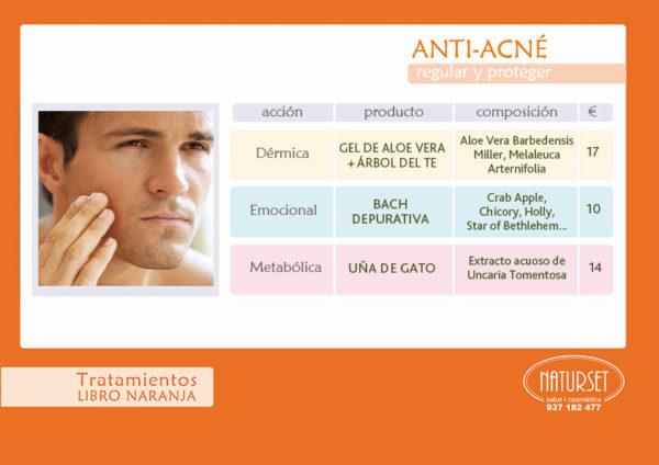 Anti-Acné - Tratamientos Libro Naranja de Naturset