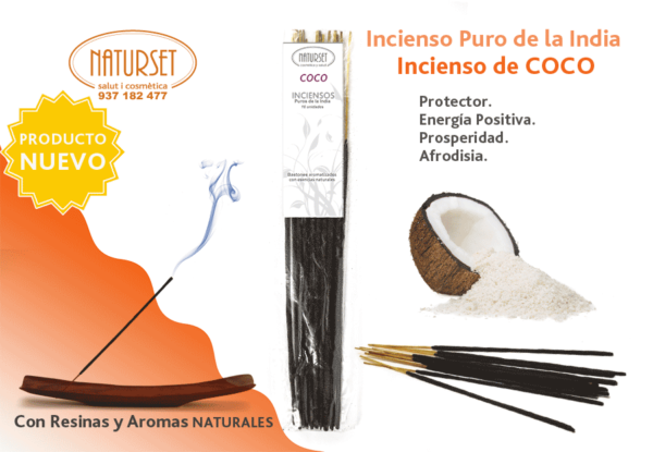 Incienso Coco - Inciensos Puros de la India - NATURSET