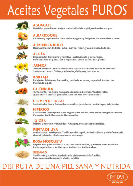 Aceites Vegetales Puros - NATURSET Salut i Cosmètica