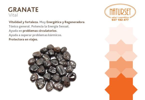 Granate - Vitalidad y Fuerza - Cristales y Piedras de Naturset