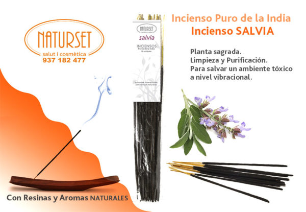 Incienso Salvia - Inciensos Puros de la India - Naturset Salut i Cosmètica