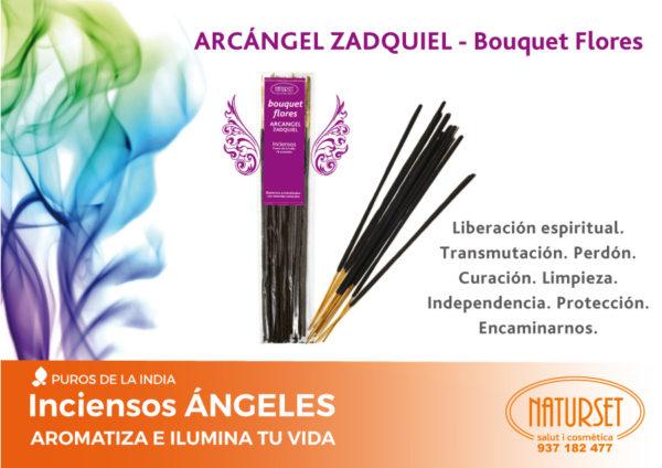 INCIENSO ZADQUIEL - Bouquet Flores. Inciensos Ángeles de NATURSET Salut i Cosmètica.