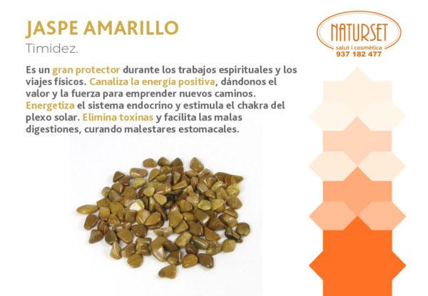Jaspe Amarillo - Timidez - Cristales y Piedras de Naturset Salut i Cosmètica