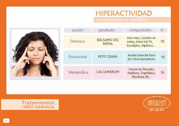 Hiperactividad - Tratamiento - Libro Naranja de NATURSET