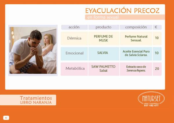 Eyaculación Precoz - Tratamiento - Libro Naranja de Naturset