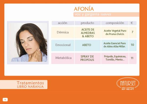 Afonía - Tratamiento - Libro Naranja de Naturset