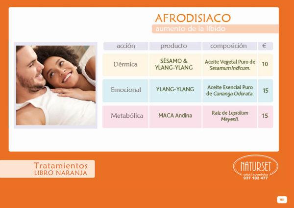 Afrodisiaco - Tratamiento - Libro Naranja de Naturset