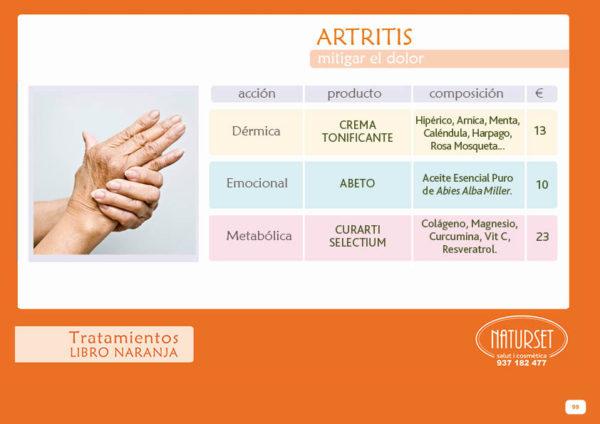 Artritis - Tratamiento - Libro Naranja de Naturset