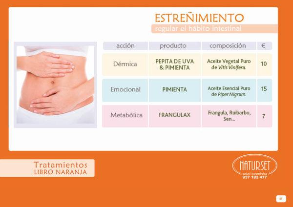 Estreñimiento - Tratamientos Libro Naranja de NATURSET