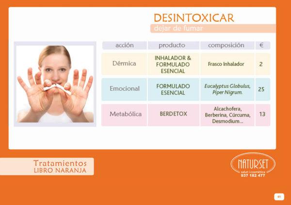 DESINTOXICAR- Tratamiento Natural para dejar de fumar - Libro Naranja de NATURSET