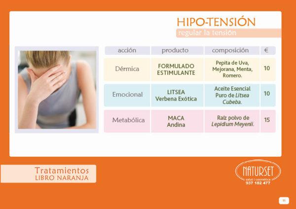 Hipo-tensión - Libro Naranja de Naturset