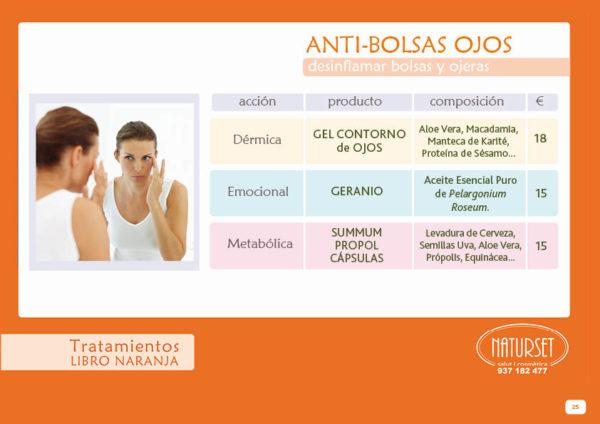 Anti-bolsas - Tratamientos Libro Naranja de Naturset