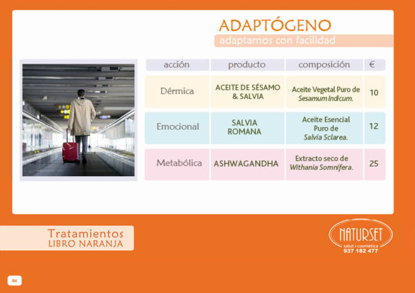 Adaptógeno - Tratamiento - Libro Naranja de Naturset Salut i Cosmètica